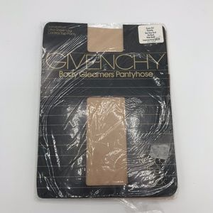 Givenchy Body Gleamers Gold Pantyhose Tights Vtg
